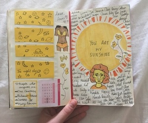art, yellow, and journal image