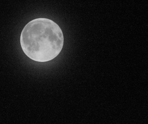 blackandwhite, moon, and space image