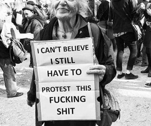 protest, woman, and feminism image