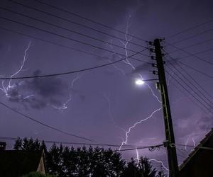 sky, purple, and lightning image
