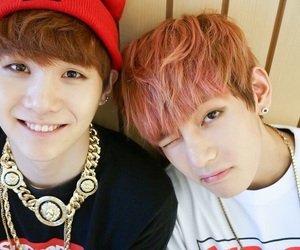 couple, jhope, and min yoongi image