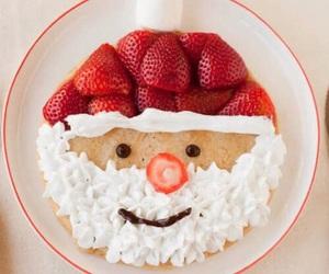 christmas, food, and strawberry image