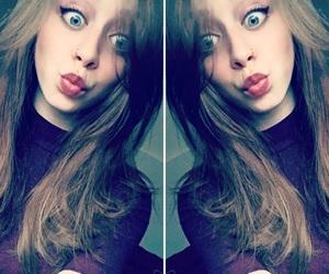 blue eyes, selfie, and brunette image