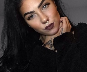 beautiful, blackhair, and finnish image