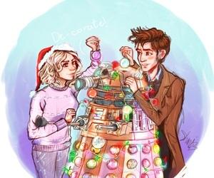 christmas, doctor who, and drawing image