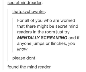 funny, tumblr, and mind reader image