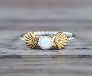 mermaid, accessories, and ring image