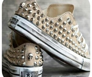 all star, golden, and converse image