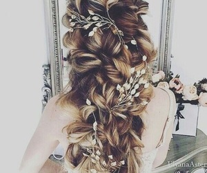 blonde, braid, and brunette image