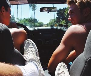 boys, car, and summer image