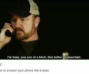 supernatural, bobby, and boss image