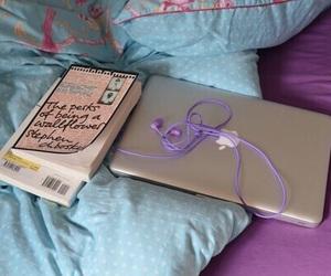 book, earphones, and cute image