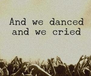 crying, dance, and Lyrics image