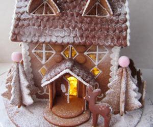 christmas, gingerbread house, and homemade image