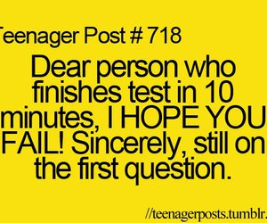 teenager post, fail, and test image