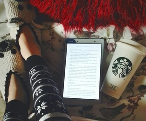 chilled, reading, and winter image