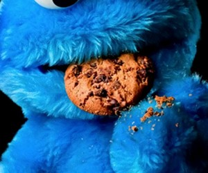 blue, monster, and cookie image