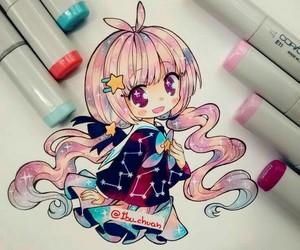 blush, pink hair, and violet eyes image