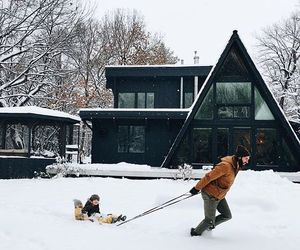 daughter, snow, and family image