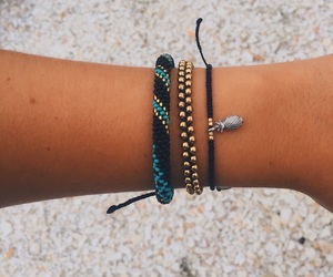 bracelets, pineapple, and beachy image