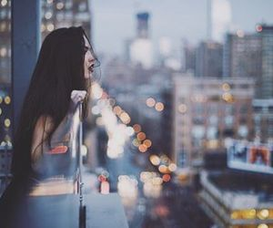 girl, city, and lights image