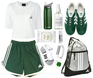 green, outfit, and sport image
