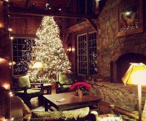 house, lights, and tree image