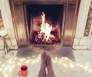 winter, lights, and socks image