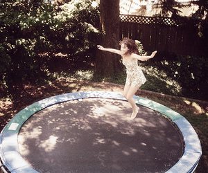 trampoline and jump image