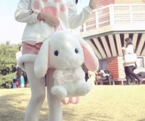 backpack, beautiful, and bunny image