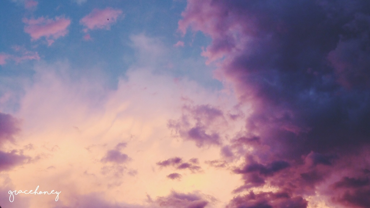 aesthetic, bambi, and clouds image