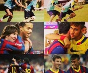 messi, neymar, and Ronaldinho image
