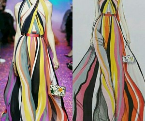 catwalk, fashion, and colors image