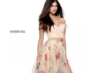 dress, flowers, and sherri hill image