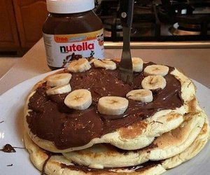 nutella, food, and banana image