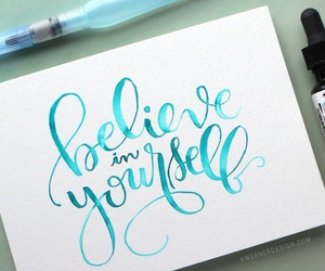 art, calligraphy, and watercolor image