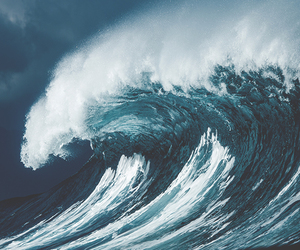 waves, blue, and nature image