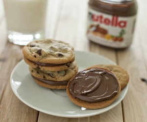 nutella, food, and Cookies image