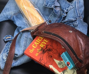 catcher in the rye, cigarettes, and denim jacket image