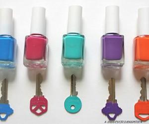 diy, key, and nail polish image
