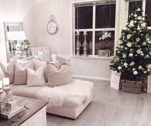 christmas, room, and white image
