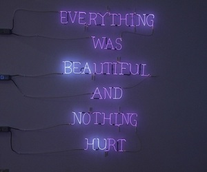 beautiful, lights, and quote image