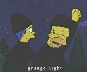 grunge, simpsons, and homer image