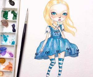 alice in wonderland, art, and drawing image