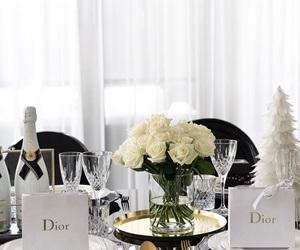 dior, christmas, and rose image