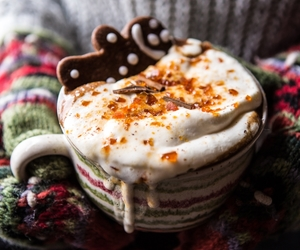 christmas, gingerbread, and latte image