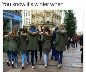 winter, funny, and girl image