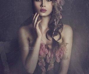 beautiful, brunette, and dark image