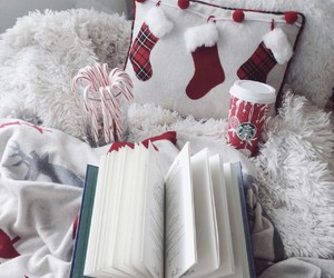 book, candycane, and christmas image