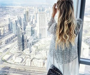 hair, city, and photography image